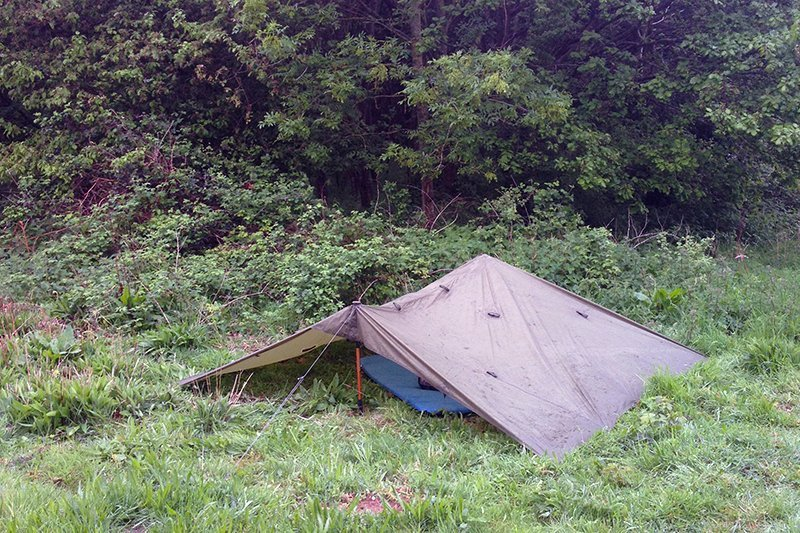 Wild camping on grass along the Peddars Way national trail, Norfolk, UK. Copyright Stephanie Boon, 2018. All Rights Reserved.