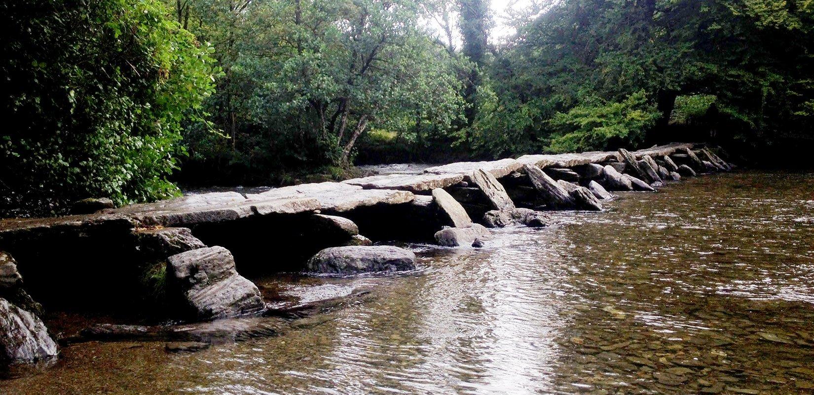 Tarr Steps, one of Exmoor Naitonal Park's beauty spots, ideal for photography